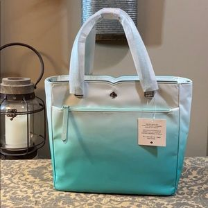 Kate Spade Jae Degrade medium satchel Fiji green